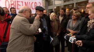 Chcą pieniędzy za budowę A2. Protest przed GDDKiA