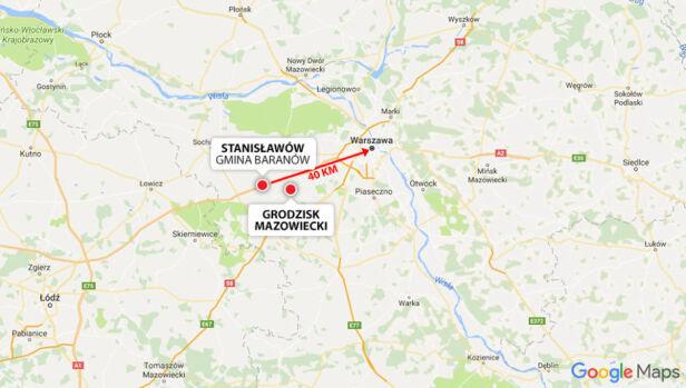 Centralny Port Komunikacyjny ma powstać w gminie Baranów  Google Maps